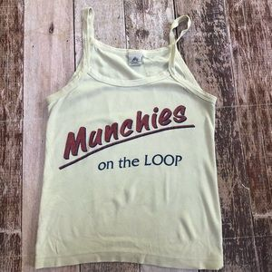 Tops - Munchies on the loop crop tank size M